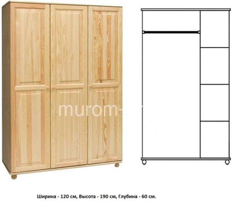 Шкаф для дачи Витязь 105