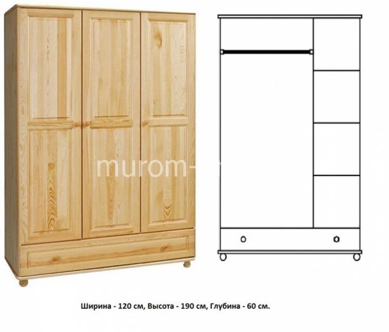 Шкаф для дачи Витязь 106