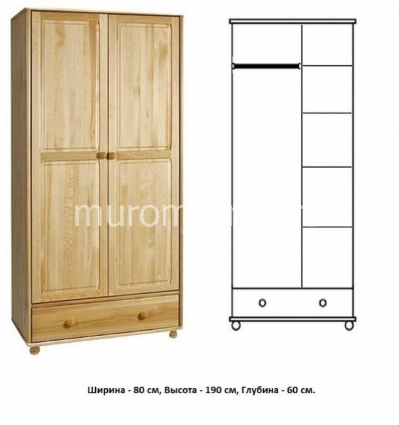Шкаф из массива Витязь 107