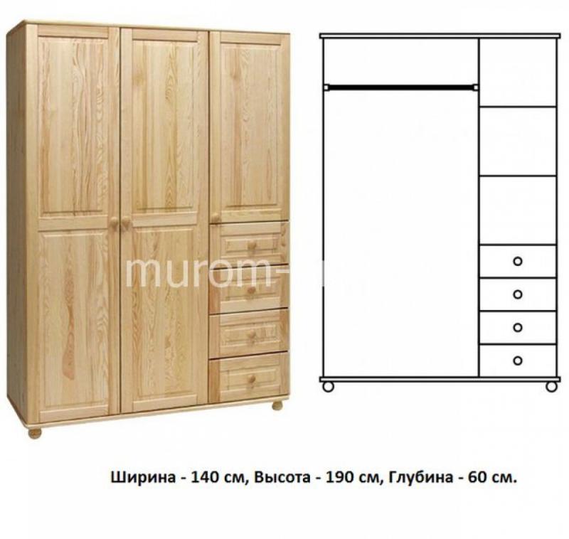 Шкаф для дачи Витязь 108
